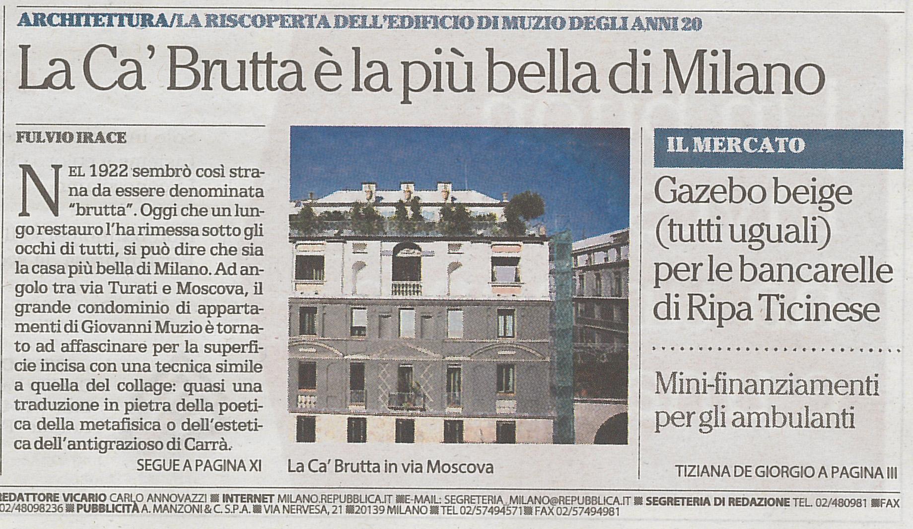 prima pag La Repubblica 27.09.15